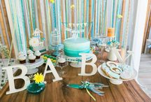 ~JIVE~ Garden Baby Shower / A stunning Blue and Yellow Baby Shower by Jive Events. Photography by Enchante Studios Dubai