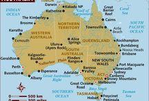 Australia - Maps / Various maps of Australia and her States. #australia, #spiritofaustralia, #maps