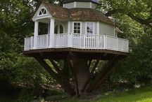 Tree Houses / I would have loved to own a tree house as a kid, and even now, it's a romantic dream to live in a real house in the trees. #treehouse