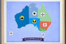 Australia - National & State Flags / Flags of Australia. #australia, #states, #NT, #Qld, #NSW, #Vic, #Tasmania, #SA, #WA, #ACT
