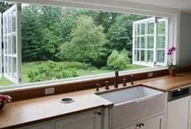 Home - Kitchens / Kitchens, sinks, taps, Windows, tables, chairs, decor. #kitchens