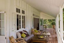Home - Verandah / Verandah, railings, curtains, furniture. #verandahs