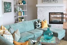 Home - Lounge room / Lounge room, living space, family room, fire, furniture, rugs, cushions etc. #loungeroom
