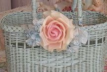 Корзины / Декор корзин, для пасхи, свадьбы.