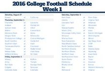 College Football Weekly Schedules / College Football