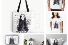 Sandra Casado. Products. / Productos gráficos. Camisetas, bolsas de tela, láminas decorativas, ilustraciones.