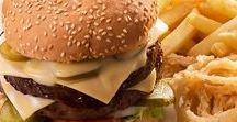 Spur Burgers / Our burgers are grilled and served on a sesame seed roll with Spur-style crispy onion rings and chips OR a baked potato. Replace the chips and onion rings with either a scrumptious side Spur Garden Salad OR two hot veg!