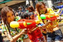 "Songkran Festival, New Year and the World's Biggest Water Fight / The worlds biggest water fight has been cleverly disguised as the Thai New Year, locally celebrated as, ""Songkran"". http://www.islandinfokohsamui.com/  / by Island Info Samui"