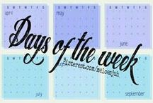 DAYS OF THE WEEK! / DAYS OF THE WEEK! COMMENT TO JOIN ❤ INVITE YOUR FRIENDS ❤