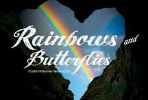 RAINBOWS & BUTTERFLIES / **NEW BOARD** RAINBOWS & BUTTERFLIES. REAL & ART. COMMENT TO JOIN ❤ INVITE YOUR FRIENDS ❤