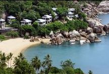 CORAL COVE & CRYSTAL BAY / Coral Cove and Crystal Bay are natural and stunning beaches situated about halfway between Chaweng Beach and Lamai Beach. / by Island Info Samui