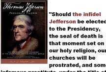 """Jefferson the heretic / """"If by religion, we are to understand sectarian dogmas, in which no two of them agree, then jour exclamation on that hypothesis is just, ' that this would be the best of all possible worlds. if there were no religion in it.""""  - Thomas Jefferson reply in a letter to John Adams.  Jefferson's Declaration of Independence: Origins, Philosophy and ... - Page 85 / by Holy Heretic"""