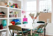 The Crafting Room / Crafting room inspiration to start that next DIY project, get your creative juices flowing, or just nap in some glitter, ya feel?