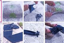 Helpful craft hacks / Some craft ideas for reusing or recycling packaging, clothing and general household tat.
