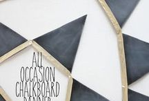 Blackboard paint - a million billion uses! / Ideas for fashion, accessories and home that use blackboard (aka chalkboard) paint, plus hints and tips for how to use it.