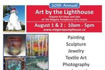 Art by the Lighthouse 2015 Participating Artists / The 10th annual Art By The Lighthouse show and sale of original art on the picturesque grounds of the Niagara Pumphouse Arts Centre on the river's edge in Niagara-on-the-Lake, Ontario.  Professional artists from the Niagara region and beyond will display paintings, sculpture, jewelry, glasswork, and much more.  Admission is free for Art by the Lighthouse.  Proceeds from the show benefit the art programs at The Niagara Pumphouse Arts Centre and the Ian Butler Memorial Scholarship Fund.