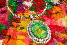 Colorful Creations / Inspirations and colorful #jewelry designs by Jeffrey Daniels Unique Designs and Gem Platinum. Fancy color diamonds and other gorgeous gems.