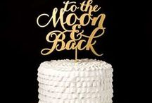 On Top of the Cake / Chic wedding cake toppers