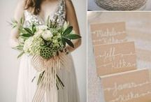 Neutral & Sand / Beautiful sand, ivory and neutral color ideas and inspirations for your wedding.