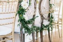 Seats of Honor / Wonderful ideas for decorating the bride and groom chairs at the wedding reception.
