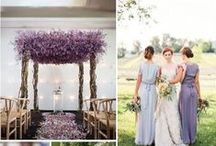Purple, Violet & Orchid Wedding Inspiration / Beautiful wedding ideas & inspiration using purple, violet, orchid and lavender colors.