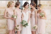 Bridesmaids in Short Dresses / Short bridesmaids dresses and sheaths in gorgeous colors