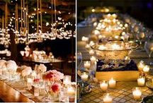 Lighting up your Wedding / Lighting ideas to make your wedding day special!