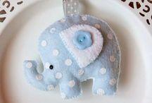 felt idea / Felt,elephant,bird,idea,baby,Xmas