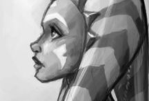 "ch (sw): ahsoka tano. / "" so, what's the plan? "" "" oh, i thought you were the one with the plan. ""  "" no, i'm the one with enthusiasm. you're the one with experience, which i'm looking forward to learning from. """