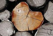 Tas de bûches - pile of cut logs for firewood / comment ranger le bois pour la cheminée