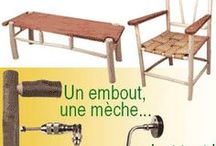 Tenon et mortaise rond - Round mortise and tenon / Bricolage en bois au jardin