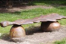 Acorn garden design / Le gland comme élément décoratif au jardin
