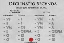 Lengua latina / Pines con imágenes y esquemas sobre la lengua latina