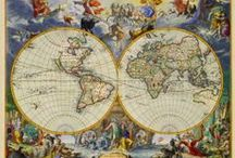 Maps: Age of Discovery / Antique World Maps of Voyages, Discoveries, Treasures and Naval Battles