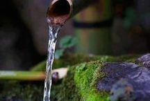 L'eau au jardin - Water in the garden - Fontaines - Fountains / Le bruit de l'eau
