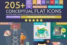 Icon Design / a Big Premium Icons set: http://bit.ly/conceptual-flat-icons