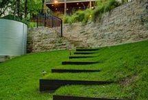 Jardin en pente - sloping garden / Astuces pour profiter d'un jardin en pente