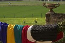 Tissus / Les tissus utilisés par Tacante, sont issus de l'industrie outdoor. Ce sont des polyester technique assurant la respirabilité des tapis de selle.