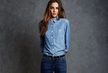 Women's denim styling / Inspiration for the denim look.