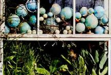 Books, plants, and globes...