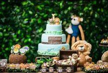 Festas infantis / Painel com fotos de aniversários infantis de registramos.