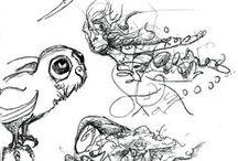 Mydriase Adrena Univers / Mes créations, peintures et dessins.