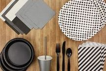 Black and White Party / A bold, geometric bundle of party supplies, perfect for a range of occasions, no matter the age!