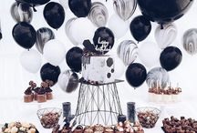 Black and White Party / A bold, geometric bundle of party supplies, perfect for a range of occasions, no matter the age!  https://partykit.co/collections/party-kits/products/black-and-white-party-kit