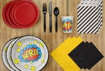 Superhero Party Kit / A Party Kit fit for a butt-kicking Superhero!  Every boy or girl (or adult) has a superhero they look up to. Bold, bright colours form the basis of this party kit, with amazing pop art/comic inspired accents to really WOW those guests.