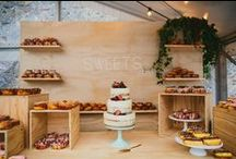 cakes and dessert tables.