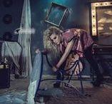 abandoned fashion photography @noodle / abandoned dressing room photoshoot with singer and musician Eva Tsachra