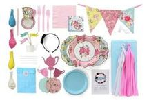 Ultimate Alice in Wonderland Tea Party / Curated in collaboration with Party Affairs - this ULTIMATE Kit has everything you need to throw a delightful Alice in Wonderland themed Tea Party. So grab your mis-matched prints and jump down the rabbit hole, it's time for a tea party!