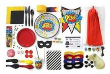 Ultimate Supehero Party Kit / Curated in collaboration with Party Affairs - this ULTIMATE Kit has everything you need to throw a heroic SUPERHERO themed party.