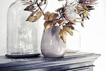 DECOR DETAILS / Decorating ideas for the home and inspiring interiors in small vignettes on bedside tables, side tables, on dressers, on top of consoles, on couches many times with brass accents, white walls, sometimes dark walls and rugs. It's the little things that make a big impact in decor. Small eclectic moments with plants, lamps, and other accessories.